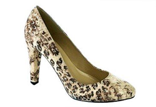 CHILLANY Pumps - Zapatos de vestir de cuero para mujer - Taupe / Ecru