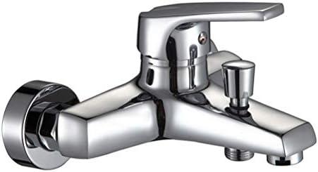浴室用蛇口トリプルホットコールドシャワー蛇口水タップシャワータップバスタブシャワー (Color : Silver)