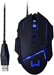 Mouse Gamer Mouse 3200 Dpi Preto Usb Warrior - MO261
