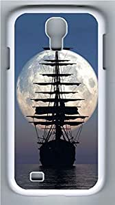 Galaxy S4 Case, Personalized Protective Hard PC White Edge Shipping Boat Case Cover for Samsung Galaxy S4