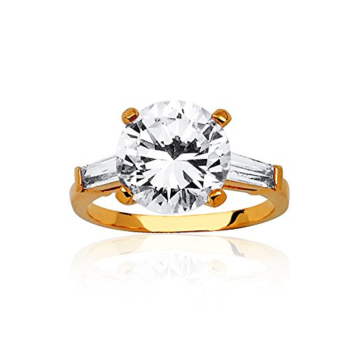"""Fashionvictime - Bague Femme - """"Eclats Diamant"""" - Plaqué Or - Cubic Zirconium (Cz) - Bijou"""