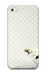Awesome DXqLOln2462JaWaj Jeannie L Carter Defender Tpu Hard Case Cover For Iphone 5c- Attractive Rosette Trellis