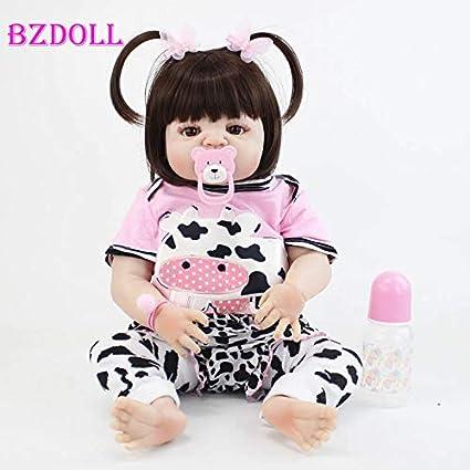 "22/"" Full Silicone Reborn Baby Girl Unicorn Pajamas Lifelike Newborn Toddler Doll"
