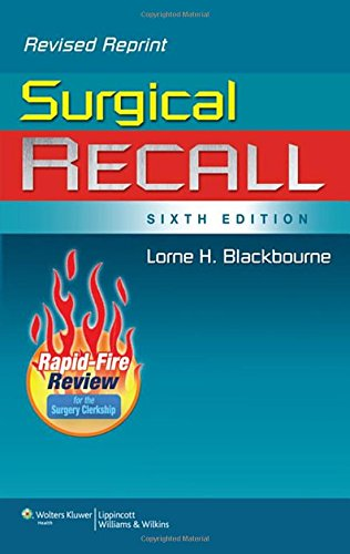 Surgical Recall, 6th Edition (Recall Series) by Brand: Lippincott Williams Wilkins