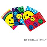 2 Dozen (24) SMILEY FACE Mini Spiral NOTEBOOKS SMILE Emoticon Emoji Party FAVORS Classroom TEACHER Rewards