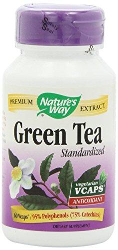 Natures Way, Green Tea Standardized, 60 Veggie Capsules
