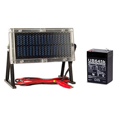 Feeders Battery 6 Volt Charger - Universal Power Group UB645 6V 4.5Ah Battery for Deer Game Feeder + 6V Solar Panel Charger