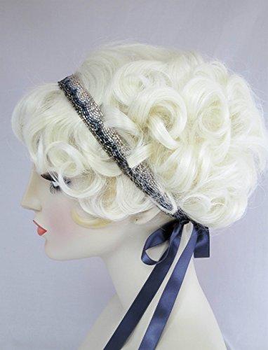 Trim Millinery (It Girl Beaded Headband 1920s Style Ribbon Headband)