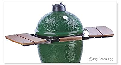 Big Green Egg Wooden Shelves EGG Mate for Medium, Large & XLarge Big Green Egg - EGG (2 shelves) Authentic Big Green Egg Grill & Smoker Accessories Are A Must For Big Green Egg Users -100% Safisfacton from Big Green Egg