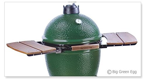 New Big Green Egg Wooden Shelves EGG Mate for Medium, Large & XLarge Big Green Egg - EGG (2 shelves)...