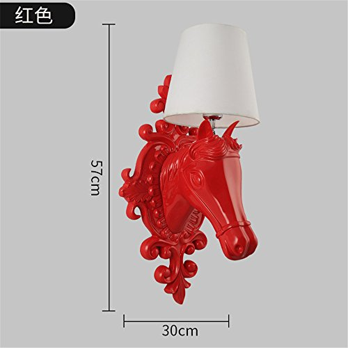 JhyQzyzqj Wall Sconce Wall Lights Nordic American Retro Creative Living Room Restaurant Corridor Aisle Personality Ma Tau Wall Lights Ma Tau Lamps Resin Wall Lights