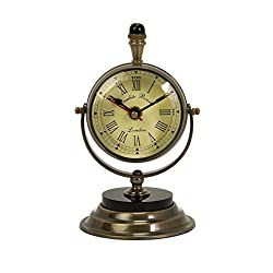 IMAX Voyager Soren Brass Table Clock and Compass by Imax