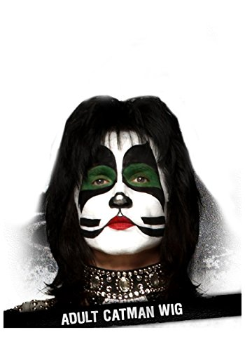 Adult Catman KISS Synthetic Black Wig Accessory - ST