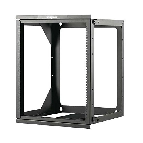 (C2G/Cables to Go 14618 12U Hinged Wall Mount Open Frame Rack, 18 Inch Deep, TAA Compliant)