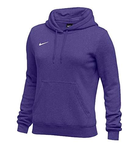 Nike Womens Pullover Club Fleece Hoodie (Medium, Purple) (Purple Women Sweatshirt)