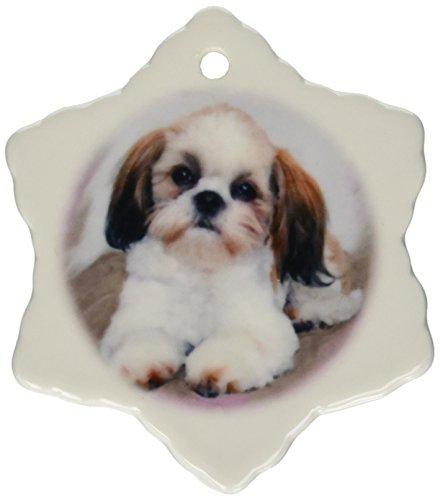 Ornaments to Paint Shih Tzu Puppy Snowflake Porcelain Ornament, (Hallmark 2017 Halloween Ornaments)