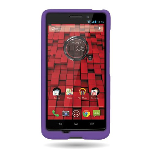 CoverON® Hard Rubberized Slim Case for Motorola Droid Mini - with Cover Removal Pry Tool - Purple