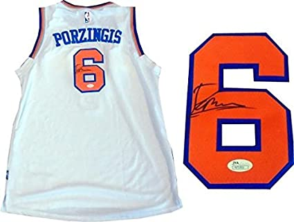 huge selection of 0969a c4b01 Signed Kristaps Porzingis Jersey - JSA) - Autographed NBA ...