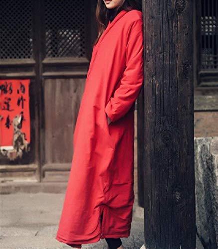 Donne Donne Transizione Cappotti Tempo Rot Libero Elegante Lunghe Fashion Giorno Giorno Giorno Casuale Autunno Puro Strappy Cappotto Lunga Invernali Maniche Battercake Donna Outerwear di Semplicemente Coat Colore da OqdwW0Z