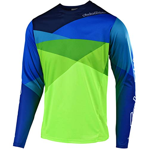 (Troy Lee Designs Sprint Jersey - Men's Jet Yellow/Green, L)