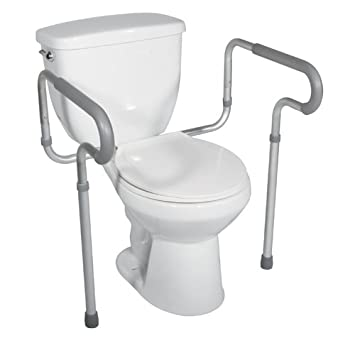 Amazon.com: Drive Medical Toilet Safety Frame, White: Health ...