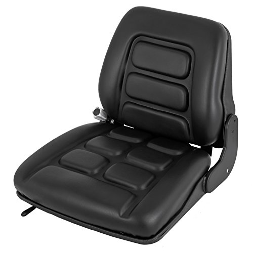 Mophorn Universal Forklift Seat Toyota Folding Vinyl Forklift Seat Suspension Seat w/Switch Fits Clark Cat Hyster Ysle Toyota ()