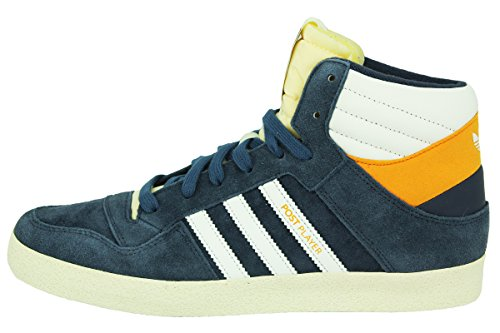 Adidas POST PLAYER VULC Chaussures Sneakers Mode Homme Cuir Suede Bleu ADIDAS