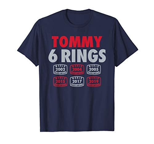 Tommy 6 Rings New England Football Fan T-Shirt