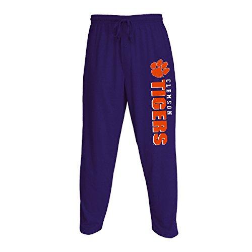 Concepts Sport Men's NCAA Knit Solid Pajama Pants with Logo-Clemson Tigers-Purple-XL - Clemson Tigers Logos