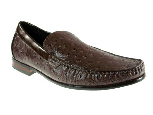 Mens 109219 Slip On Faux Ostrich Loafer Dress Shoes