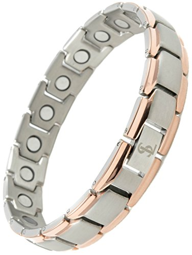 - Elegant Titanium Magnetic Therapy Bracelet Pain Relief for Arthritis and Carpal Tunnel
