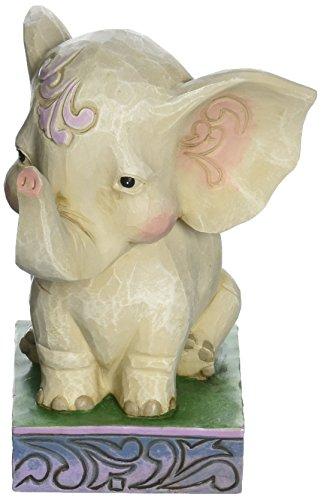 "Elephant Collectible Figurine - Jim Shore Heartwood Creek Pint Size Lazy Loveable Elephant Stone Resin Figurine, 4.25"""