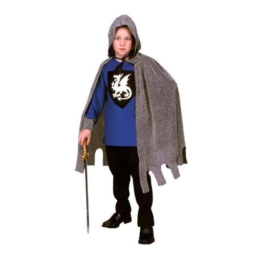 RG Costumes Medieval Knight Costume, Black/Silver/Blue, Medium
