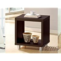 ACME 06611 Tustin End Table, Espresso Finish