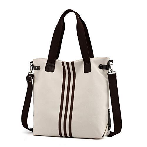 borse di Dadongll donne di tela zaino grande le le della dello per capacità Le modellano bianco multifunzionali Grils signore borse delle U1nBxd