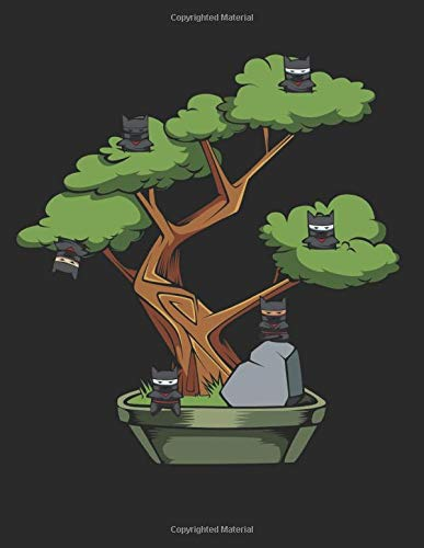 Ninja Cats Japanese Bonsai Tree: Japan Kanji Characters ...