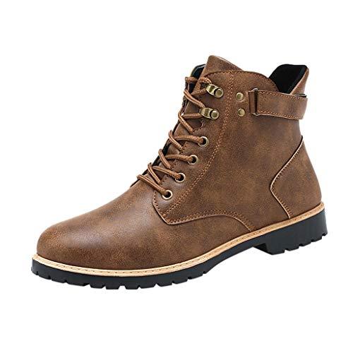 [해외]Men`s Motorcycle Boots Lace Up Casual Winter Combat Fashion Ankle Dress Boot (US:8.5 Brown) / Men`s Motorcycle Boots Lace Up Casual Winter Combat Fashion Ankle Dress Boot (US:8.5, Brown)