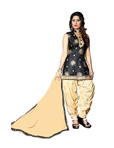 Da Facioun Indian Women Designer Partywear Ethnic Traditonal Salwar Kameez. Da Facioun Femmes Indiennes Concepteur Partywear Ethnique Traditionelles Salwar Kameez. Black Noir