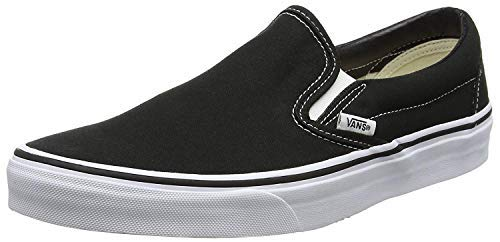 Vans Slip-On(tm) Core Classics, Black (Canvas), Men's 5.5, Women's 7 - Slip Black Kids On