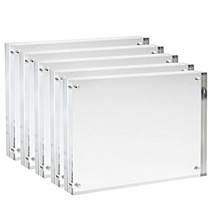 Amazoncom Sooyee 5 Pack 5x7 Acrylic Picture Frames Clear