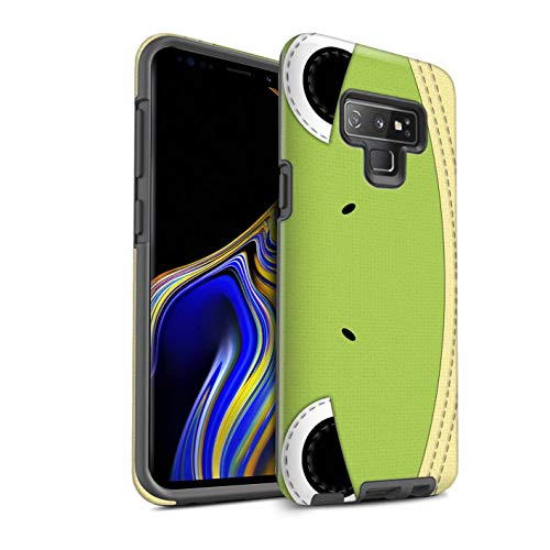 Frog Quilted (eSwish Matte Tough Shock Proof Phone Case for Samsung Galaxy Note 9/N960 / Frog Design/Animal Stitch Effect Collection)