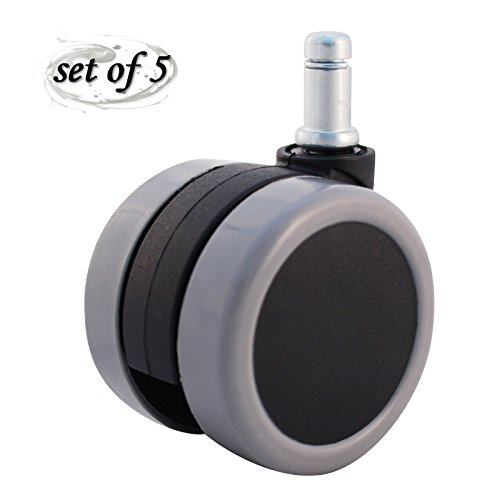 ENJOY Replacements Chair Casters Soft Twin Wheels Safe for All Floors & Carpets with Universal 7/16