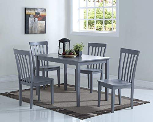 Angel Line Dining Set (5-Piece), Gray