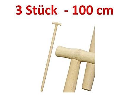 2 x Spatenstiel Grabegabel Spatengabel Stiel Holzstiel T Griff 90cm Set /Ø 38