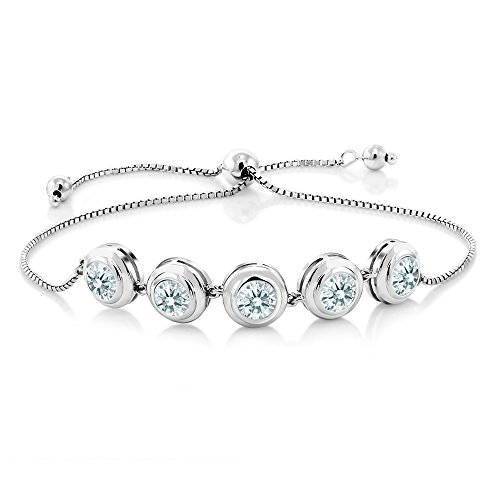 925 Sterling Silver Bracelet Set with Round White Zirconia from ()
