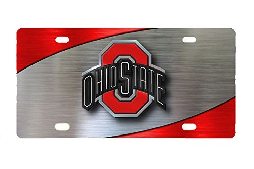 Eletina Case License Plates Ohio Ohio State Buckeyes Custom Metal License Plate for Car Custom Car Tag 12 Inch X 6 Inchohio State Car Magnets
