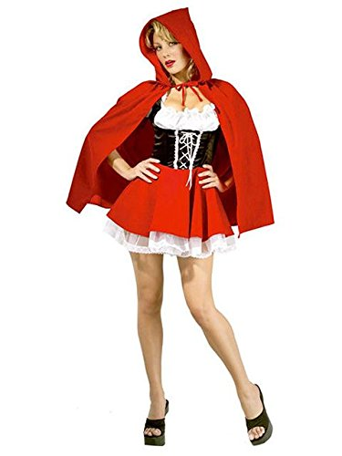 Secret Wishes Sexy Red Riding Hood Costume, Red, -