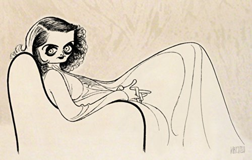 Hand Signed AL HIRSCHFELD, BETTE DAVIS, Limited-Edition Etching