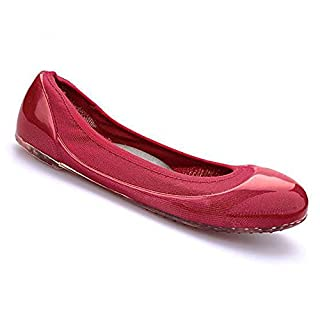 ja vie Womens Summer Shoes Womens Ballet Flats Style for Every Day Wear Driving, Red SZ 39