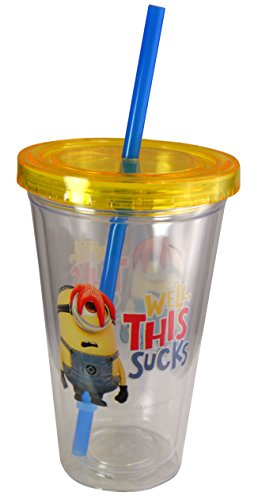 zak-designs-minions-165-oz-double-wall-tumbler-with-lid-and-straw